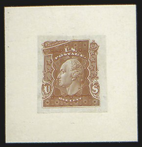 Sale Number 816, Lot Number 1588, 1c-6c Continental Bank Note Co. Issue Unadopted Essays1c Scarlet, Large Die Essay on India (145-E1a), 1c Scarlet, Large Die Essay on India (145-E1a)