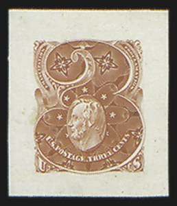 Sale Number 816, Lot Number 1594, 1c-6c Continental Bank Note Co. Issue Unadopted Essays3c Scarlet, Large Die Essay on India (147-E1), 3c Scarlet, Large Die Essay on India (147-E1)