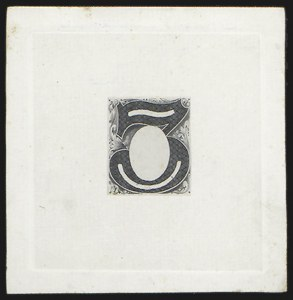 Sale Number 816, Lot Number 1595, 1c-6c Continental Bank Note Co. Issue Unadopted Essays3c Black, Frame Only, Hybrid Large Die Essay on India (147-E1A var), 3c Black, Frame Only, Hybrid Large Die Essay on India (147-E1A var)