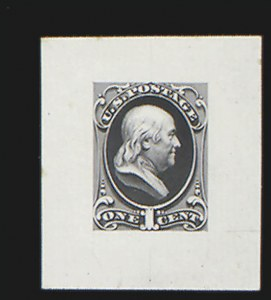 Sale Number 816, Lot Number 1610, 1c National Bank Note Co. Issue Essays1c Franklin, Large Die Essay on India (145-E8a), 1c Franklin, Large Die Essay on India (145-E8a)
