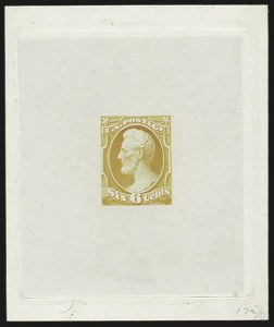Sale Number 816, Lot Number 1624, 6c-7c National Bank Note Co. Issue Essays6c Lincoln, Large Die Essay on India (148-E4), 6c Lincoln, Large Die Essay on India (148-E4)