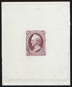 Sale Number 816, Lot Number 1650, 24c-90c National Bank Note Co. Issue Essays24c Scott, Large Die Essay on India (153-E4), 24c Scott, Large Die Essay on India (153-E4)