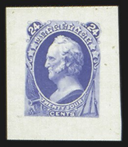 Sale Number 816, Lot Number 1651, 24c-90c National Bank Note Co. Issue Essays24c Scott, Large Die Essay on India (153-E4), 24c Scott, Large Die Essay on India (153-E4)