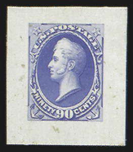 Sale Number 816, Lot Number 1655, 24c-90c National Bank Note Co. Issue Essays90c Perry, Large Die Essay on India (155-E5), 90c Perry, Large Die Essay on India (155-E5)