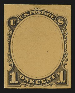 Sale Number 816, Lot Number 1678, Continental, American Bank Note Co. Essays1c Frame Only, Die Essay on Surface-Tinted Glazed Paper (206-E1b), 1c Frame Only, Die Essay on Surface-Tinted Glazed Paper (206-E1b)