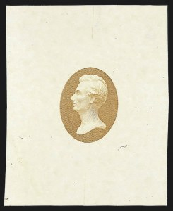 Sale Number 816, Lot Number 1680, Continental, American Bank Note Co. Essays[1c] Lincoln, Vignette Only, Die Essay on White Ivory (206-E5), [1c] Lincoln, Vignette Only, Die Essay on White Ivory (206-E5)