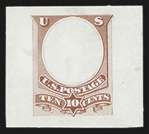 Sale Number 816, Lot Number 1684, Continental, American Bank Note Co. Essays10c Unadopted Frame, Die Essay on Thick White Card, Horizontal Lines (209-E2a), 10c Unadopted Frame, Die Essay on Thick White Card, Horizontal Lines (209-E2a)