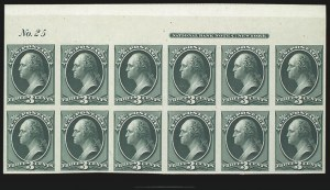 Sale Number 816, Lot Number 1727, Bank Note Plate Proofs (section a)3c Green, Plate Proof on India (147P3), 3c Green, Plate Proof on India (147P3)