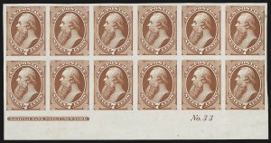Sale Number 816, Lot Number 1730, Bank Note Plate Proofs (section a)7c Vermilion, Plate Proof on India (149P3), 7c Vermilion, Plate Proof on India (149P3)
