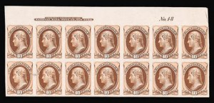 Sale Number 816, Lot Number 1731, Bank Note Plate Proofs (section a)10c Brown, Plate Proof on India (150P3), 10c Brown, Plate Proof on India (150P3)