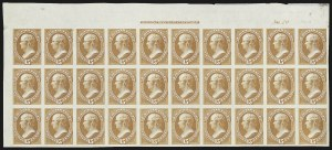 Sale Number 816, Lot Number 1733, Bank Note Plate Proofs (section a)15c Orange, Plate Proof on India (152P3), 15c Orange, Plate Proof on India (152P3)