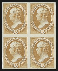 Sale Number 816, Lot Number 1734, Bank Note Plate Proofs (section a)15c Orange, Plate Proofs on India, Card (152P3, 152P4), 15c Orange, Plate Proofs on India, Card (152P3, 152P4)