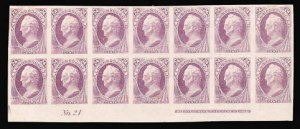 Sale Number 816, Lot Number 1735, Bank Note Plate Proofs (section a)24c Purple, Plate Proof on India (153P3), 24c Purple, Plate Proof on India (153P3)