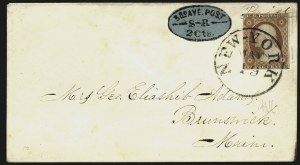 Sale Number 817, Lot Number 1546, Third Avenue Post Office (New York NY) (Part II)Third Avenue Post Office, New York N.Y., 2c Black on Blue (139L4), Third Avenue Post Office, New York N.Y., 2c Black on Blue (139L4)