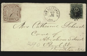 Sale Number 817, Lot Number 858, California City Letter Express Co. (San Francisco CA)California City Letter Express Co., San Francisco, 10c Red, Type I (33L1), California City Letter Express Co., San Francisco, 10c Red, Type I (33L1)