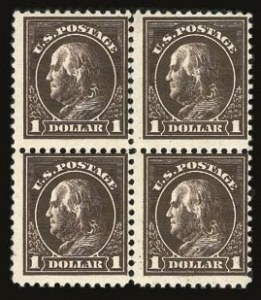 Sale Number 821, Lot Number 1148, 1912-23 Washington-Franklin Issues (Scott 498 to 546)$1.00 Deep Brown (518b), $1.00 Deep Brown (518b)
