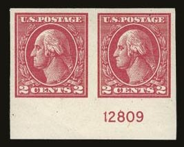 Sale Number 821, Lot Number 1169, 1912-23 Washington-Franklin Issues (Scott 498 to 546)2c Carmine, Ty. VII, Imperforate (534B), 2c Carmine, Ty. VII, Imperforate (534B)