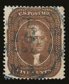 Sale Number 821, Lot Number 337, 3c-5c 1857-60 Issue5c Orange Brown, Ty. II (30), 5c Orange Brown, Ty. II (30)