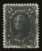 Sale Number 821, Lot Number 390, 1861-66 Issue (Scott 62B - 70c)12c Black (69), 12c Black (69)