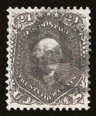 Sale Number 821, Lot Number 395, 1861-66 Issue (Scott 62B - 70c)24c Red Lilac (70), 24c Red Lilac (70)