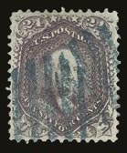 Sale Number 821, Lot Number 397, 1861-66 Issue (Scott 62B - 70c)24c Violet, Thin Paper (70c), 24c Violet, Thin Paper (70c)