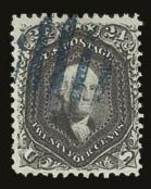 "Sale Number 821, Lot Number 399, 1861-66 Issue (Scott 62B - 70c)24c ""Cincinnati"" Blue Violet (70c var), 24c ""Cincinnati"" Blue Violet (70c var)"