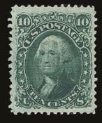 Sale Number 821, Lot Number 435, 1867-68 Grilled Issue (E and F Grills)10c Yellow Green, F. Grill (96), 10c Yellow Green, F. Grill (96)