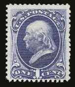 Sale Number 821, Lot Number 546, 1870-88 Bank Note Issues (Scott 145 - 166)1c Ultramarine (145), 1c Ultramarine (145)