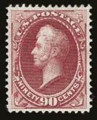 Sale Number 821, Lot Number 555, 1870-88 Bank Note Issues (Scott 145 - 166)90c Carmine (155), 90c Carmine (155)