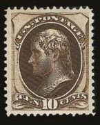 Sale Number 821, Lot Number 563, 1870-88 Bank Note Issues (Scott 145 - 166)10c Brown (161), 10c Brown (161)
