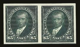 Sale Number 821, Lot Number 781, 1894-98 Bureau Issues (Scott 264 - 283)$5.00 Dark Green, Imperforate (278a), $5.00 Dark Green, Imperforate (278a)