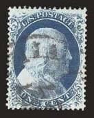 Sale Number 824, Lot Number 116, 1857-60 Issue1c Blue, Ty. IV (23), 1c Blue, Ty. IV (23)