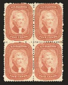 Sale Number 824, Lot Number 117, 1857-60 Issue5c Brick Red (27), 5c Brick Red (27)
