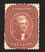 Sale Number 824, Lot Number 118, 1857-60 Issue5c Indian Red (28A), 5c Indian Red (28A)