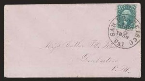 Sale Number 824, Lot Number 126, 1857-60 Issue10c Green, Ty. IV (34), 10c Green, Ty. IV (34)