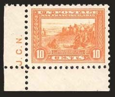 Sale Number 824, Lot Number 310, Washington-Franklin Issues10c Panama-Pacific, Perf 10 (404), 10c Panama-Pacific, Perf 10 (404)