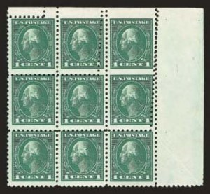 Sale Number 824, Lot Number 312, Washington-Franklin Issues1c Green, Vertical Pair, Imperforate Between and at Top (424f), 1c Green, Vertical Pair, Imperforate Between and at Top (424f)