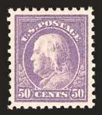 Sale Number 824, Lot Number 313, Washington-Franklin Issues50c Violet (440), 50c Violet (440)