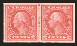 Sale Number 824, Lot Number 316, Washington-Franklin Issues2c Carmine, Ty. I, Imperforate Coil (459), 2c Carmine, Ty. I, Imperforate Coil (459)