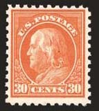 Sale Number 824, Lot Number 318, Washington-Franklin Issues30c Orange Red, Perf 10 (476A), 30c Orange Red, Perf 10 (476A)