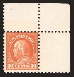 Sale Number 824, Lot Number 319, Washington-Franklin Issues30c Orange Red, Perf 10 (476A), 30c Orange Red, Perf 10 (476A)