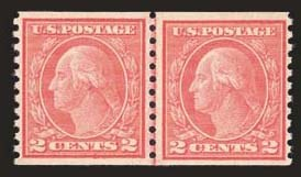 Sale Number 824, Lot Number 320, Washington-Franklin Issues2c Carmine, Ty. II, Coil, (491), 2c Carmine, Ty. II, Coil, (491)
