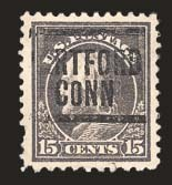 Sale Number 824, Lot Number 327, Washington-Franklin Issues15c Grey, Perf 10 at Top (514a), 15c Grey, Perf 10 at Top (514a)