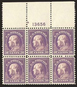 Sale Number 824, Lot Number 328, Washington-Franklin Issues50c Red Violet (517), 50c Red Violet (517)