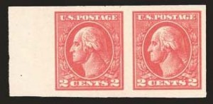 Sale Number 824, Lot Number 329, Washington-Franklin Issues2c Carmine, Ty. VII, Imperforate (534B), 2c Carmine, Ty. VII, Imperforate (534B)