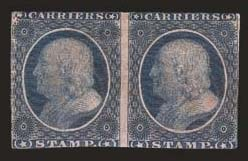 Sale Number 824, Lot Number 369, Carriers(1c) Dull Blue, Franklin Carrier (LO1), (1c) Dull Blue, Franklin Carrier (LO1)