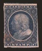 Sale Number 824, Lot Number 370, Carriers(1c) Dull Blue, Franklin Carrier (LO1), (1c) Dull Blue, Franklin Carrier (LO1)