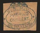 Sale Number 824, Lot Number 375, CarriersU.S.P.O., Philadelphia Pa., 1c Blue on Buff (7LB14), U.S.P.O., Philadelphia Pa., 1c Blue on Buff (7LB14)
