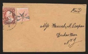 "Sale Number 824, Lot Number 424, Locals (F thru T)Swarts' City Dispatch Post, New York N.Y., 1c Red, ""For the U.S. Mail"" (136L15), Swarts' City Dispatch Post, New York N.Y., 1c Red, ""For the U.S. Mail"" (136L15)"