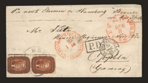Sale Number 825, Lot Number 1040, 1857-60 Issue5c Bright Red Brown (28b), 5c Bright Red Brown (28b)